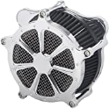 XMMT Chrome CNC Air Cleaner Intake Filter System for Harley Touring Road King Electra Glide Street Glide & Trike 2008-2016