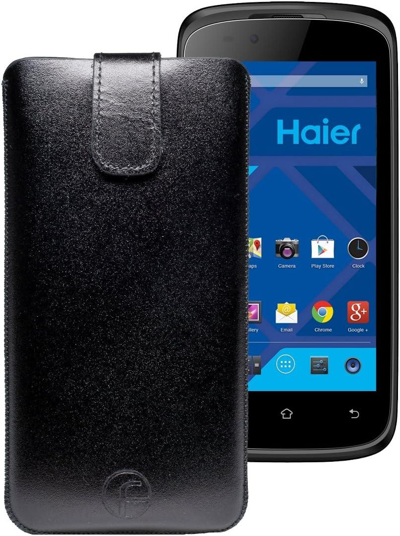 Favory funda Funda de piel/Haier Phone w716s/Real de piel (con pestaña): Amazon.es: Electrónica