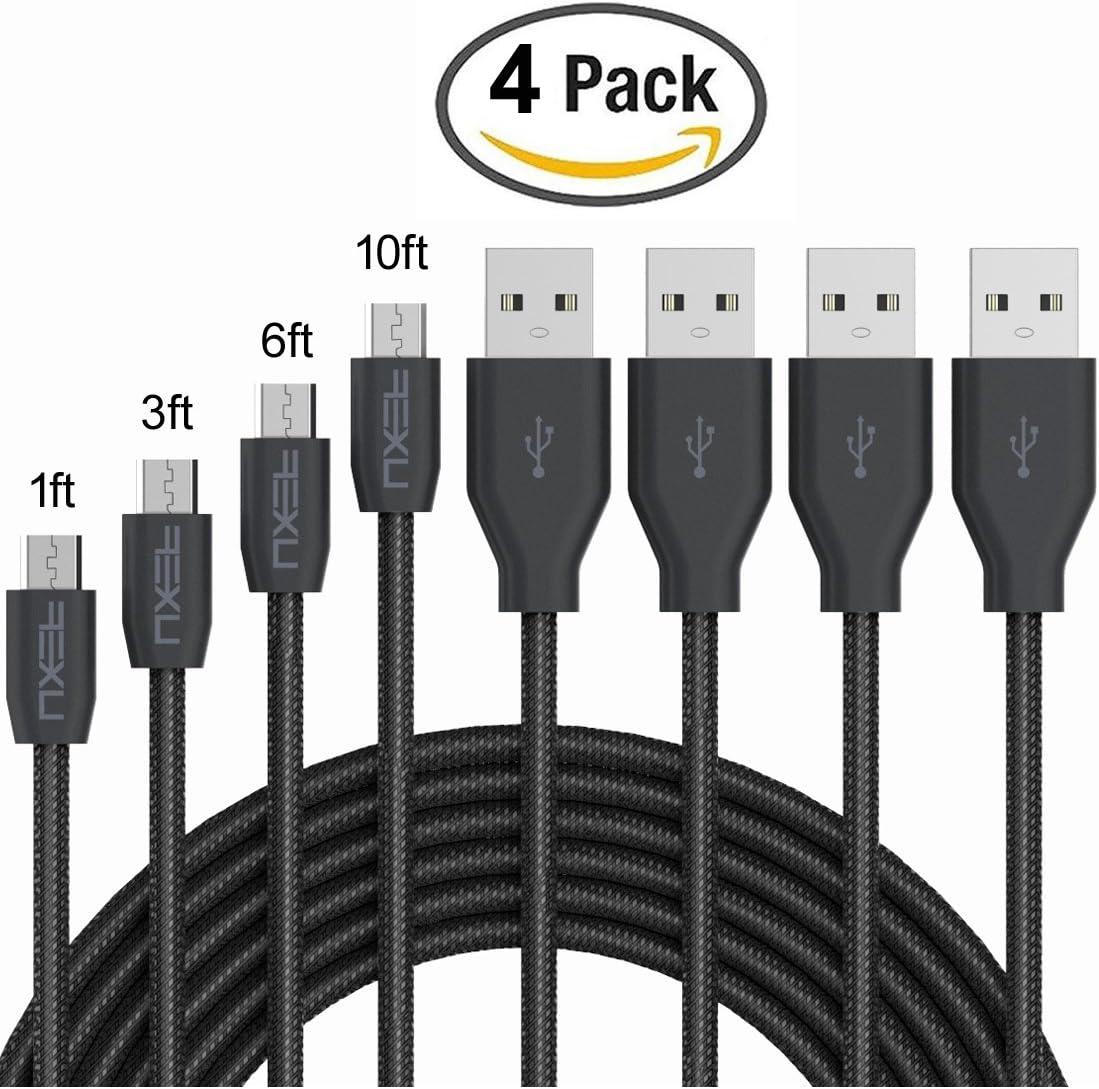 NXET® 22AWG Cable de carga rápida Micro-USB para Sony Playstation DUALSHOCK® 4 Wireless Controller / PS4 Pro / PS4 Slim / Xbox One Cargador de mando, y más.: Amazon.es: Electrónica