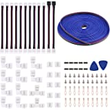 5050 4Pin LED Strip Connector Kit - 10mm RGB LED Connector Kit Includes 32.8FT RGB Extension Cable 10x LED Strip Jumper…