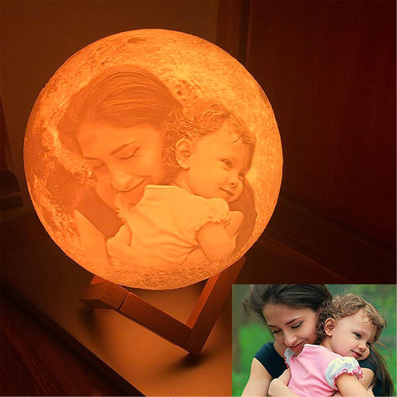 16 Farben Kundenspezifisches Foto Mond Lampe Nachtlampe 3D Mond Lampe Mondlicht LED LIGHT Mond ...