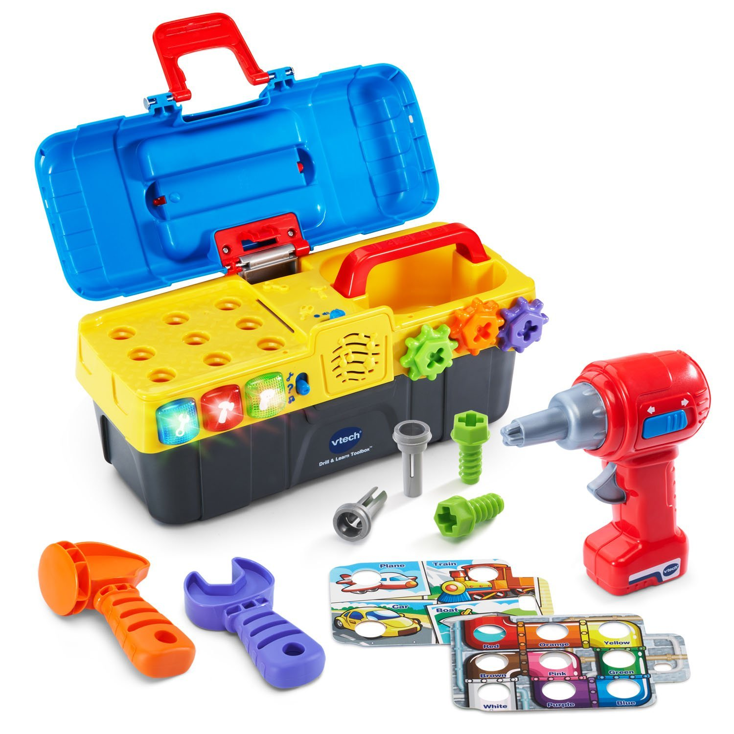 Toolbox Drill Playset Educational Toys For Boys Toddler Kids Girl