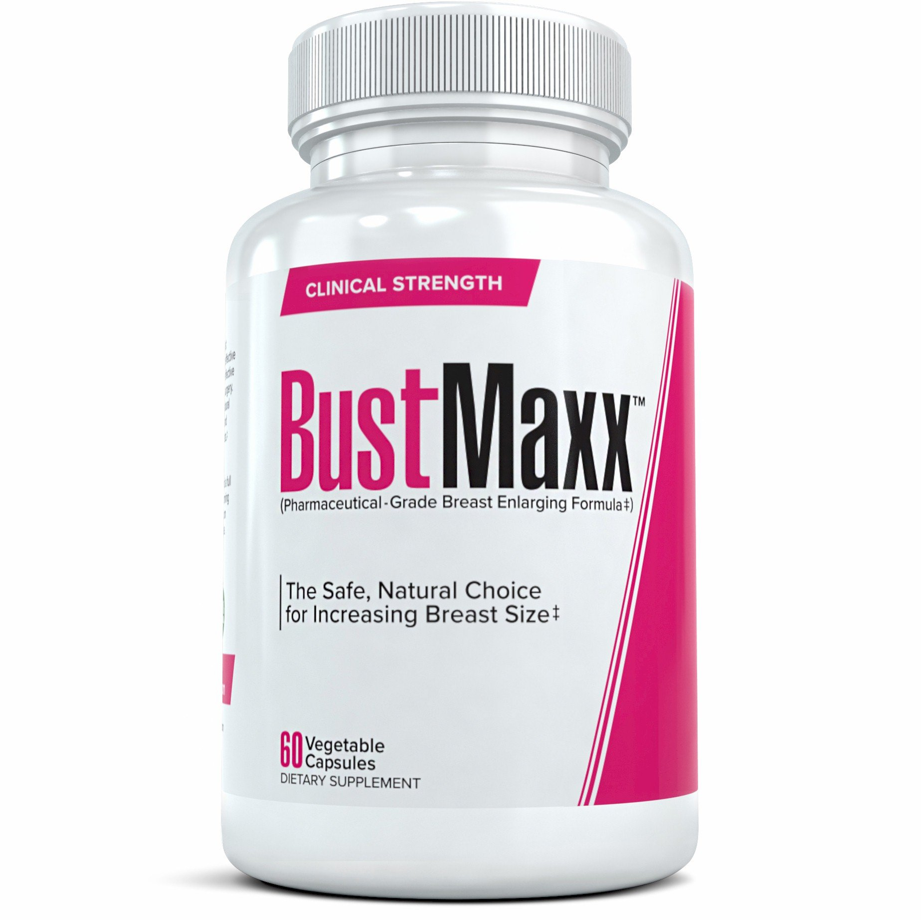 Bustmaxx All Natural Enlarging and Enhancement Supplement Capsules, 60 Count
