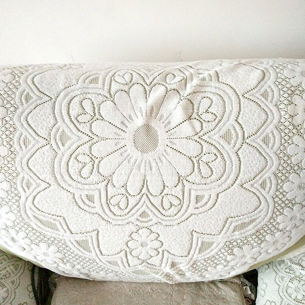 yazi Cotton Lace Sofa Throw Cover, Loveseat, Armchair Slipcovers Furniture Protector Sofa Back Covers Lace Table Sofa Doily 25 inch by 29 1/2 inch happyness2014 B01202