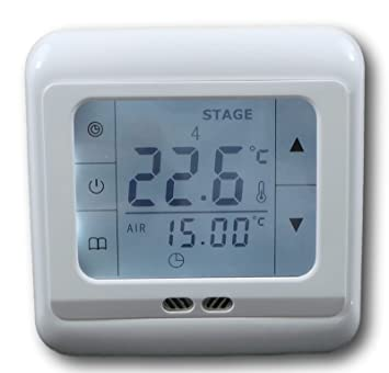 SM-PC®, Raumthermostat Thermostat programmierbar Touchscreen #832 ...
