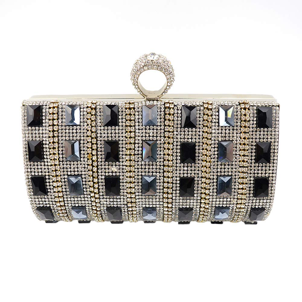 Women's Bags Velvet Evening Bag Crystal Rhinestone Solid colord Black Silver golden