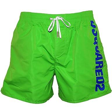 8853e48dc3 Amazon.com: DSQUARED2 Side Logo Men's Swim Shorts, Green/Blue: Clothing