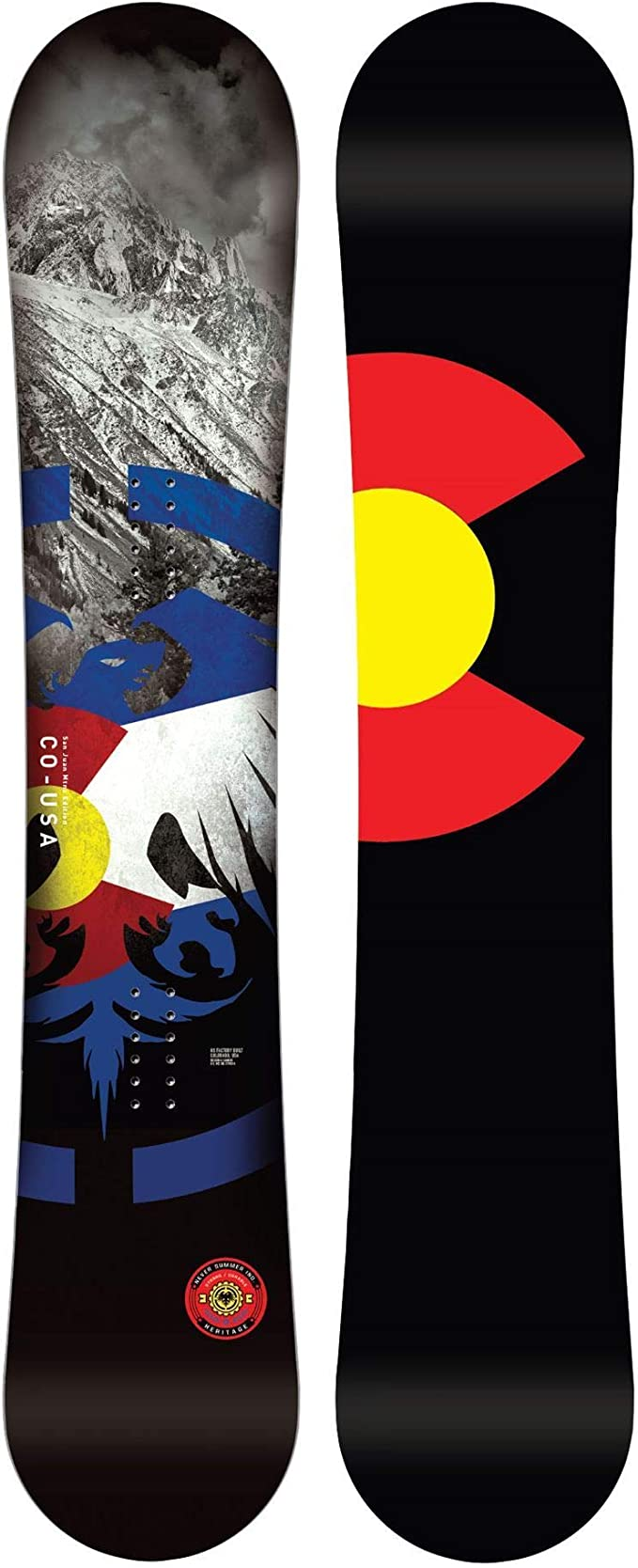 Amazon.com : Never Summer Heritage Snowboard (155) : Sports & Outdoors