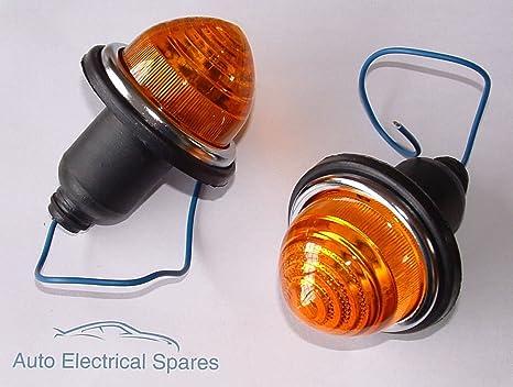 Lucas Typ L594 Kontrollleuchte Light Amber X 2 1 Paar Classic Mini Auto