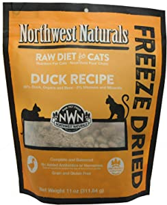 Northwest Naturals Freeze Dried Raw Cat Food Nibbles, 11 Ounces