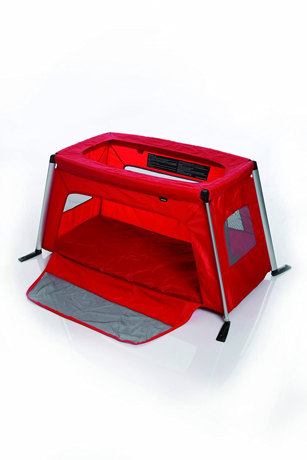 amazoncom phil u0026 teds traveller crib red by baby