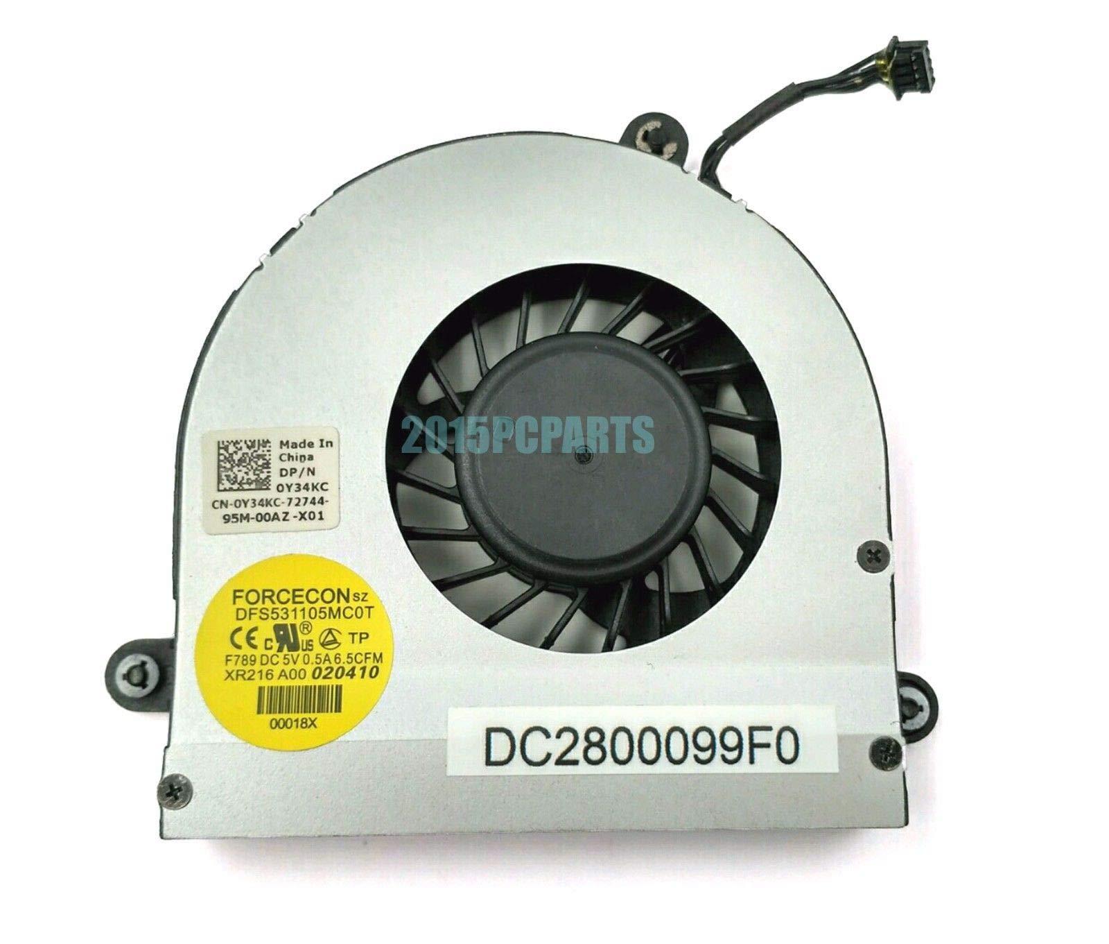 FidgetGear CPU Cooling Fan for DELL Alienware M17x R3 R4 CPU Cooling Fan DC28000CMF0 DC2800099F0 by FidgetGear
