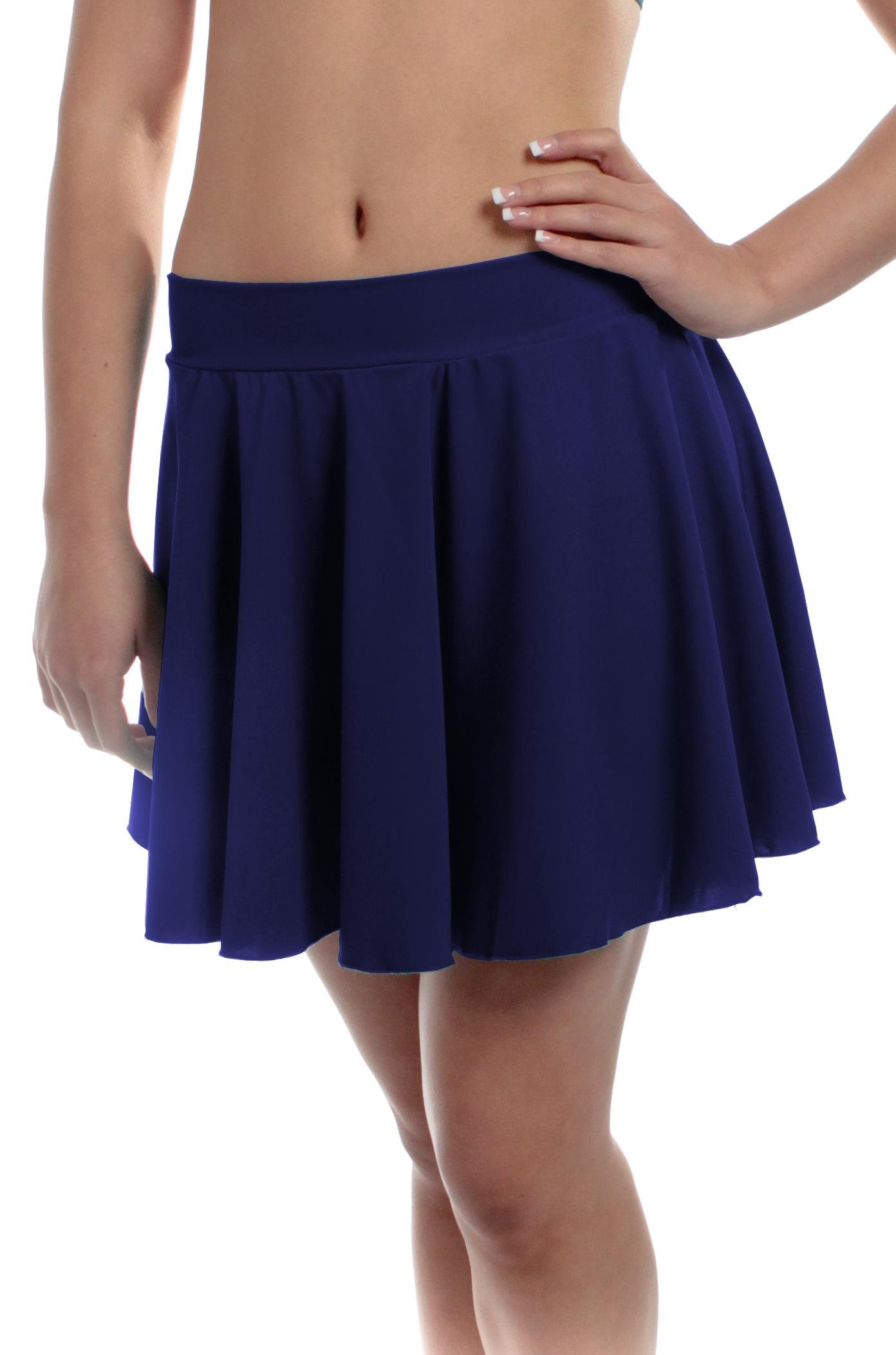 B Dancewear Girls Circle Dance Skirt Large Navy Child and Kid Sizes by B Dancewear