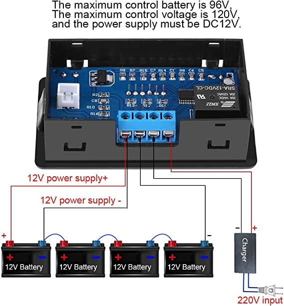 12V-120V Battery Charging Controller for Under Voltage Control Over-discharge Protection
