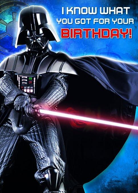 Amazon.com: star wars Darth Vader tarjeta de cumpleaños con ...