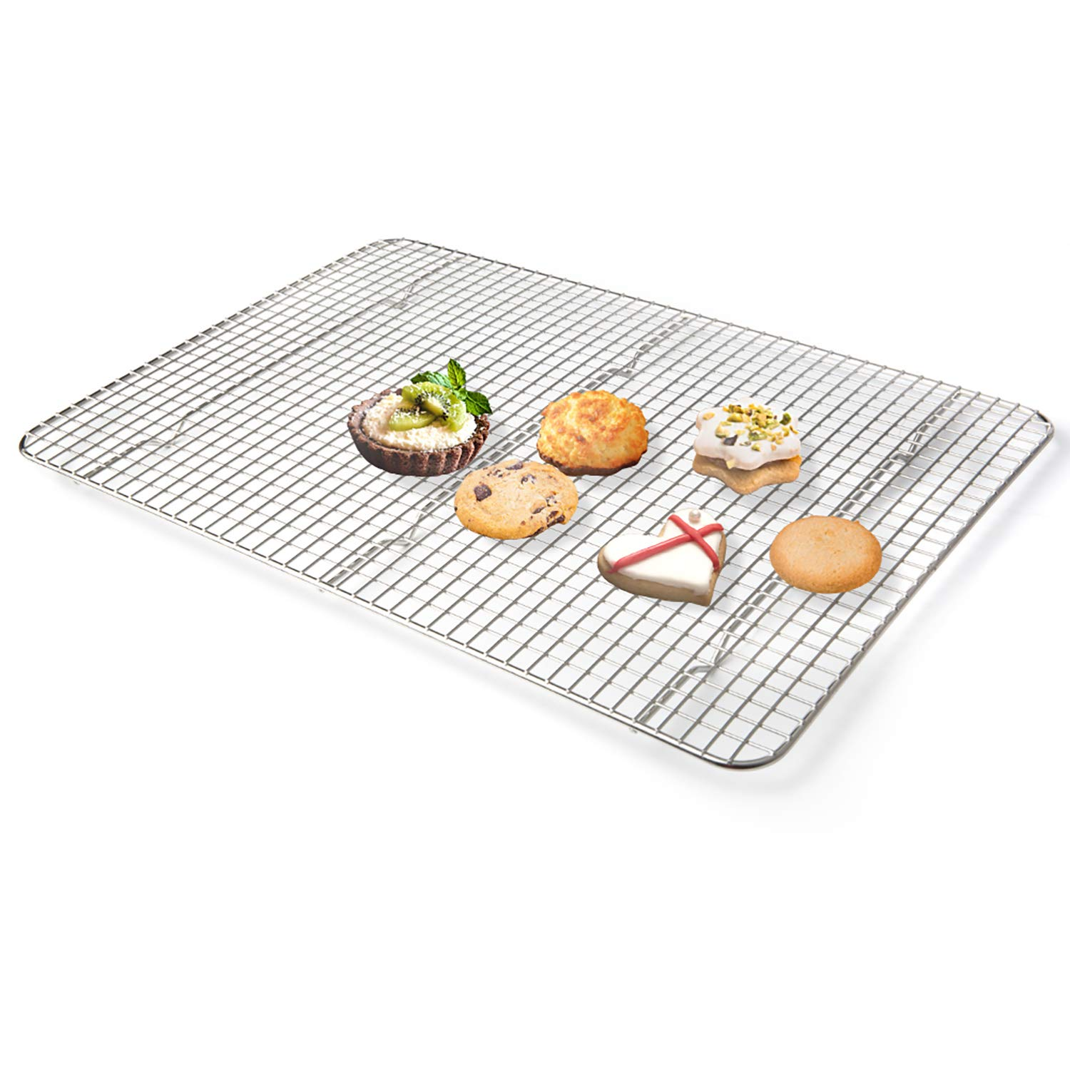 Secura Cooling Rack 100% 304 Stainless Steel, Cookie Wire Baking Racks for Baking, Cooking, Drying, Grilling, 12 x 17 Inches (Oven Safe & Dishwasher Safe)