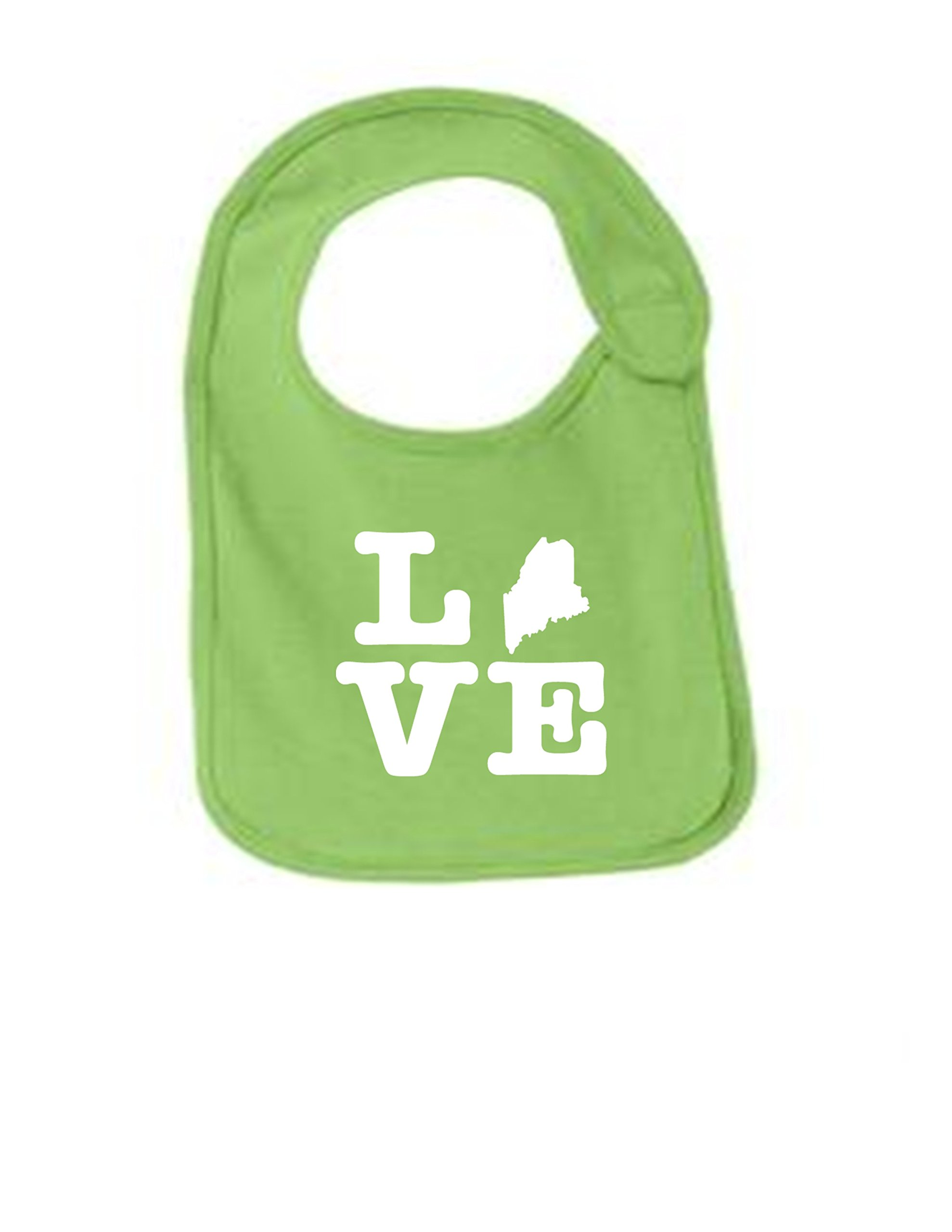 Maine Love Funny Infant Jersey Bib Lime One Size by Sod Uniforms (Image #1)