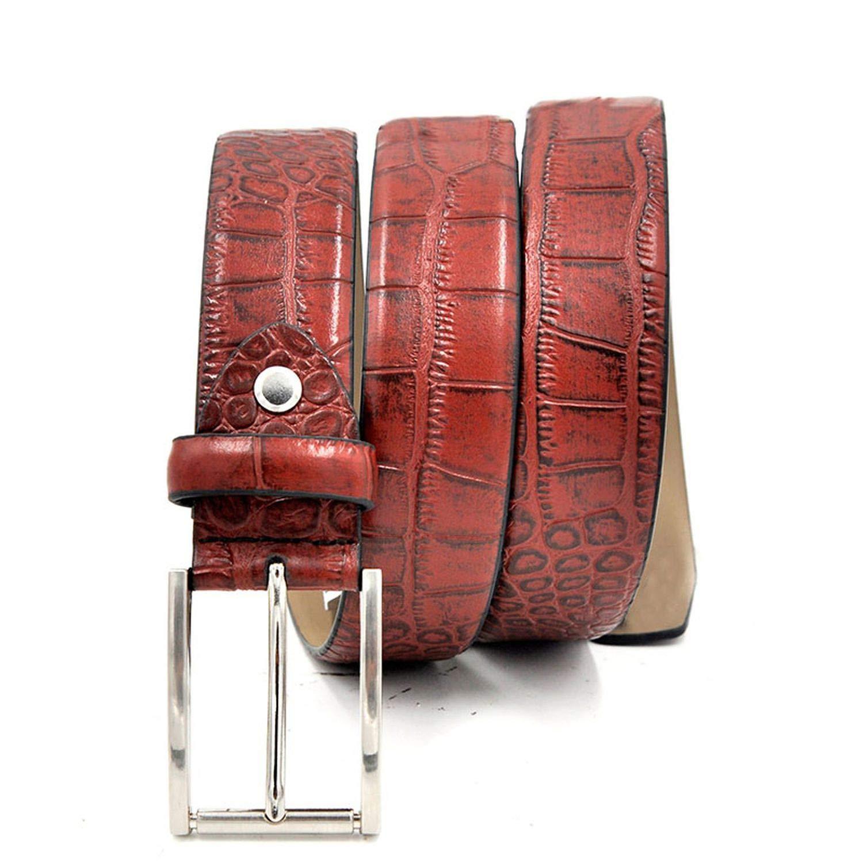 Belt Men Leather Fashion Accessories Luxury Cowskin Pattern Belts