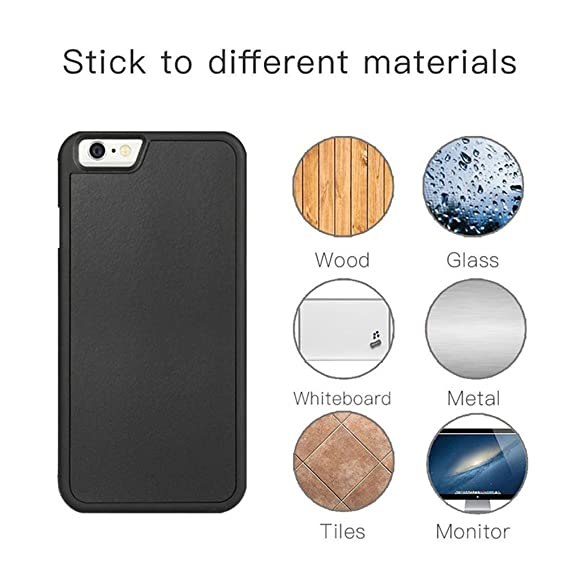 finest selection f6f55 8a693 Amazon.com: iPhone Anti Gravity Phone Case Magical Nano Can Stick to ...