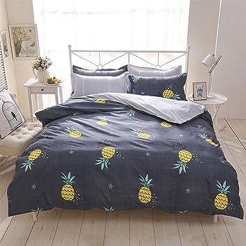 Bettwäsche Bettbezug Blue Gray Bunt Polyester Baumwolle