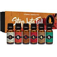 Step Into Fall Gift Set of 6 Premium Fragrance Oils - Almond Coconut Milk, Fire Amber, Sexy Cinnamon Clove, Reindeer…