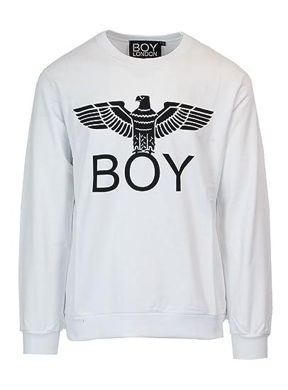 a basso prezzo e8b52 df2cd Boy London Men Sweatshirt Crewneck Print BL1012 XL White ...