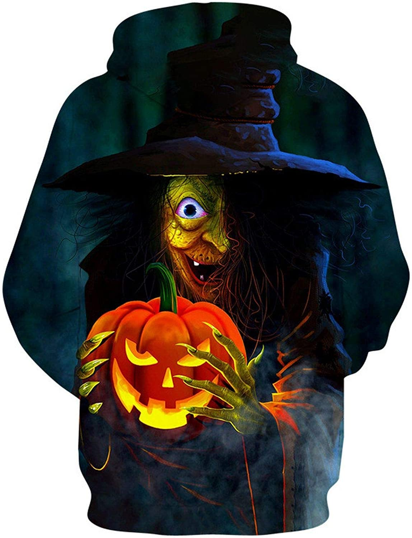 Halloween Hoodies Men Women 3D Pumpkin Print Hoodie Sweatshirt Men Streetwear