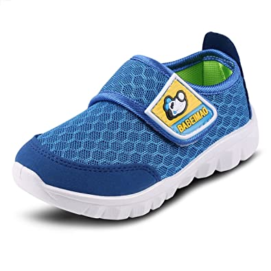 DADAWEN Baby's Boy's Girl's Breathable Strap Light Weight Sneakers Casual Running Shoes Blue US Size 4 M Toddler