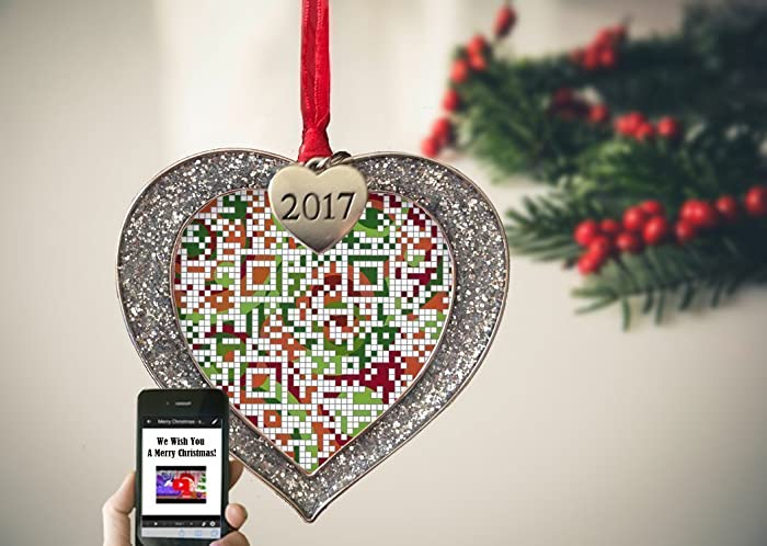 customized heart first christmas as mr mrs ornament 2017 gift for newlywed couple and