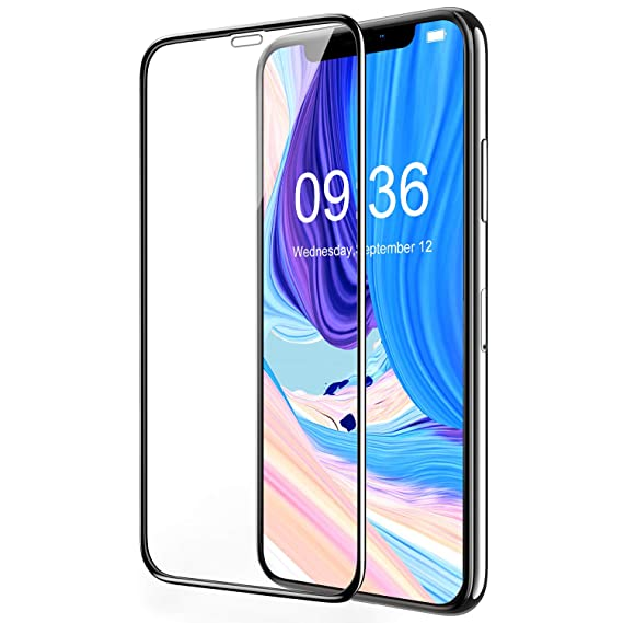 best service 77189 0db86 Bovon iPhone Xs Max Screen Protector-6.5 inch (2018), [3D Full Coverage]  [9H Hardness] [Ultra Clear] [Scratch Proof] [Alignment Frame] Tempered  Glass ...