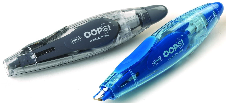 Amazon staples oops pen style correction tape 2pack pen style correction tape 2pack office products publicscrutiny Gallery