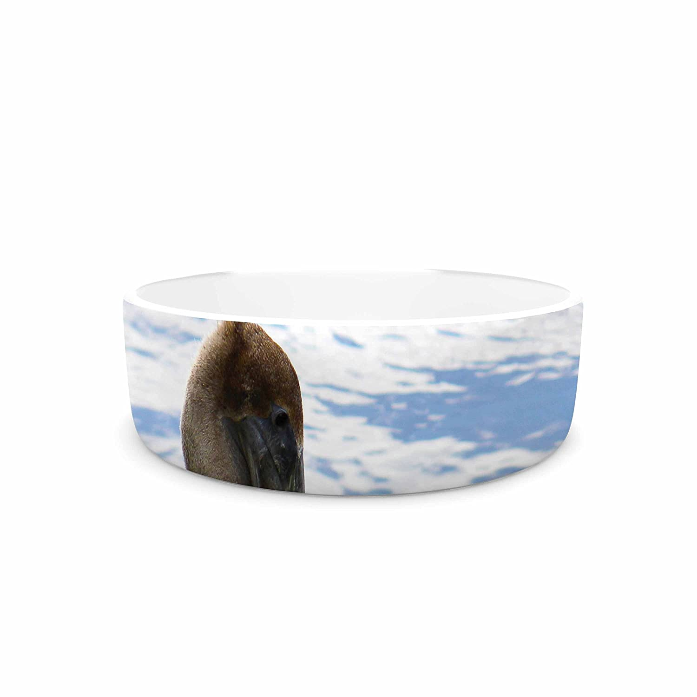 KESS InHouse Philip Brown Pelican Waiting  bluee Photography Pet Bowl, 7