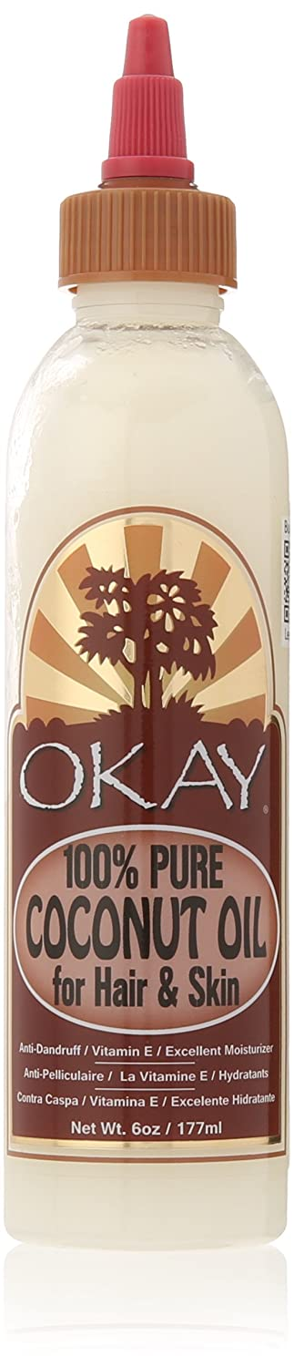 OKAY 100% Oil for Hair and Skin, Coconut, 4 oz. OKAY-COCO4