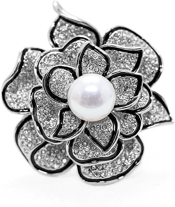 Brooch for women Black Berries Sorb Brooch Beige Floral Pin Floral pin Rowanberry Beaded Brooch