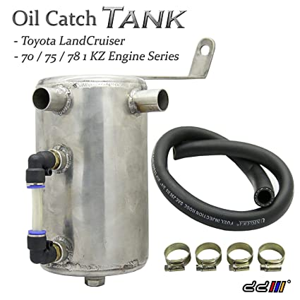 Amazon.com: Landcruiser 75 78 Series 3.0L Diesel Turbo Stainless Steel Oil Catch Can Tank: Automotive