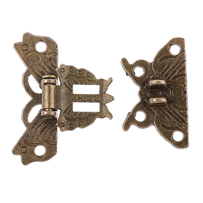 Retro Schmetterling Kistenverschluss Vorhängeschloss mit Schlüssel Schmuckkasten