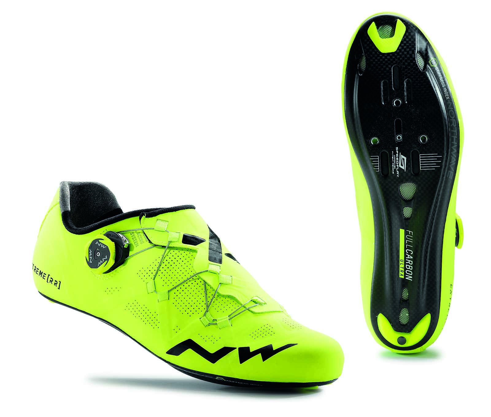 NORTHWAVE Man road cycling shoes EXTREME RR fluo yellow (39,5) by Northwave