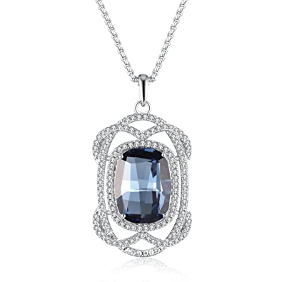 GAEA H Luxe Vintage Collection Original Design Pendant Necklace Crystals from Swarovski GHJN038 7YZMoi