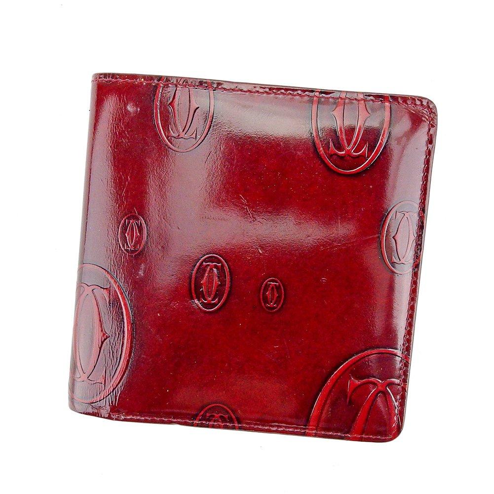 (カルティエ) Cartier 二つ折り 財布 ボルドー ハッピーバースデー レディース 中古 T5622   B0797HDYLR