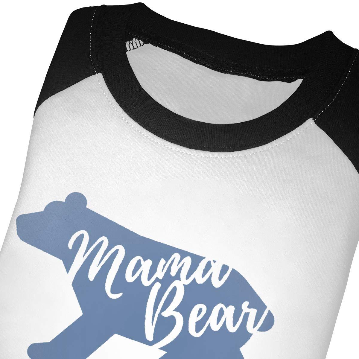 Mama Bear Unisex Toddler Baseball Jersey Contrast 3//4 Sleeves Tee