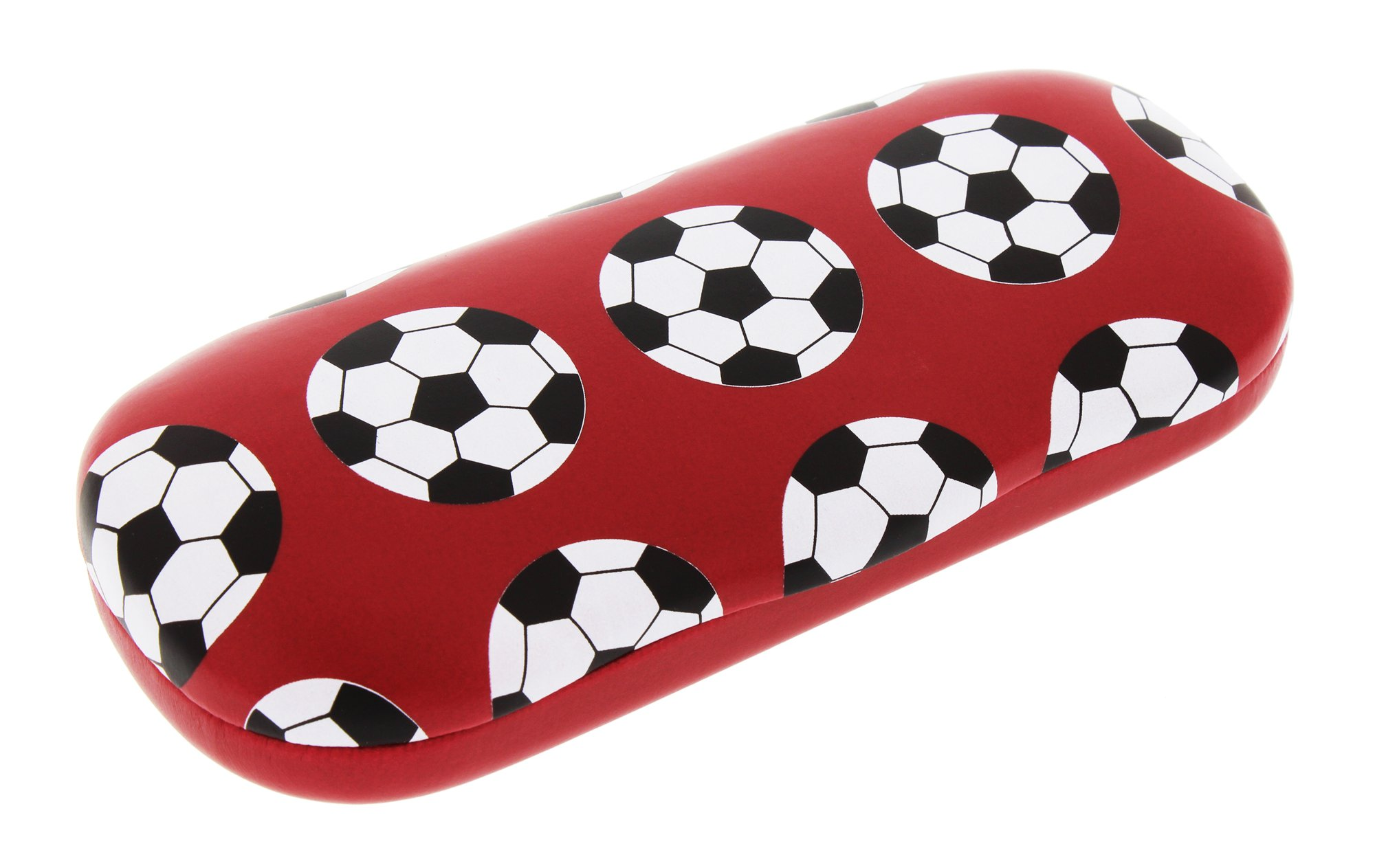 Sports Themed Hard Shell Eyeglass Case For Boys And Girls, Soccer (Football) by Ron's Optical