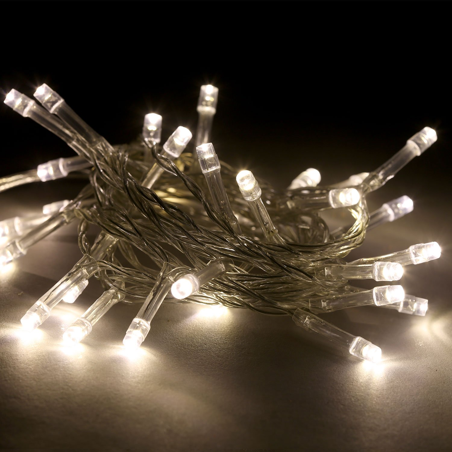 3 Pack Battery String Lights, 30 Warm White LEDs, 11 Ft. Strands, Batteries Included, Value Set by LampLust (Image #3)