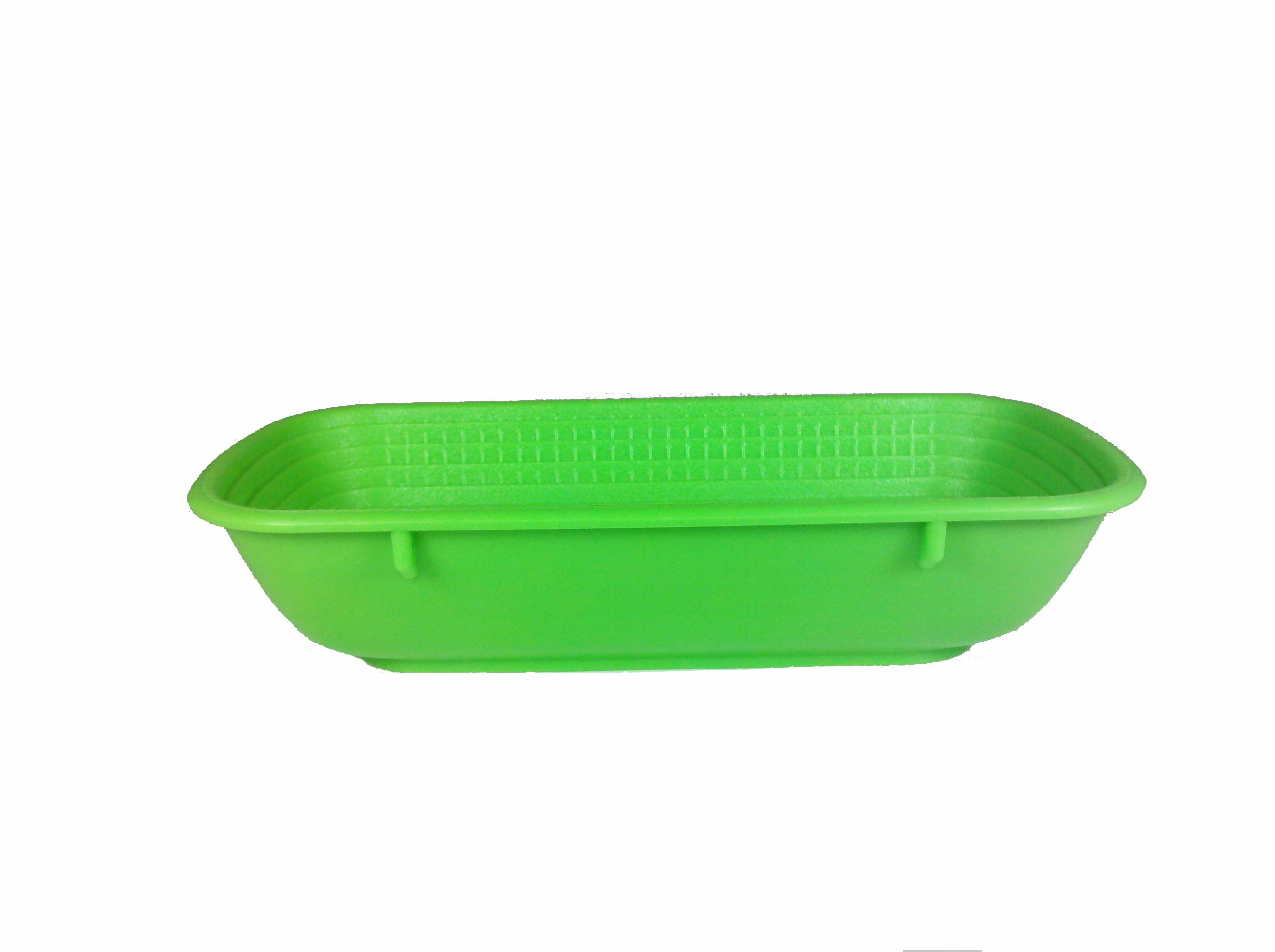 Paderno World Cuisine 10-5/8-Inch by 4-3/4-Inch Rectangular Green Proofing Basket (.5 Kilo)