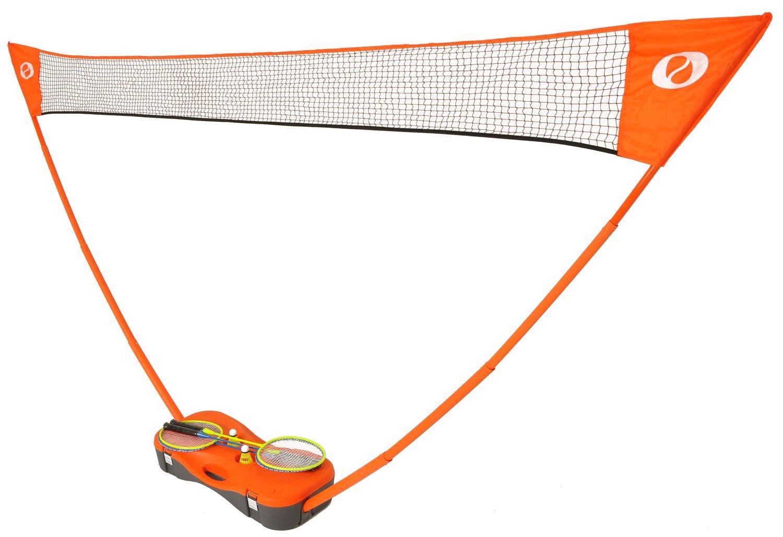 amazon com optima badminton set 4 racquets net 2 shuttlecock