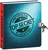 "Peaceable Kingdom Top Secret Invisible Ink Pen 6.25"" Lock and Key, Lined Page Diary for Kids"