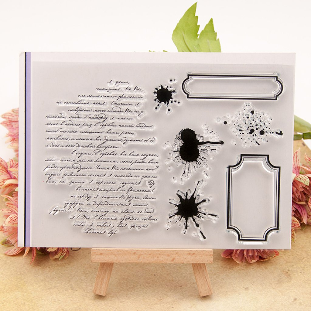 Kalttoy Mots Bricolage Silicone Clear Stamp Cling Seal Scrapbook Gaufrage Album D/écor Artisanat