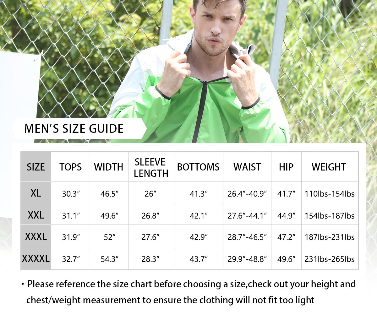DNRZY Sauna Sweat Suits Men for Weight Lose Slimming Running Sport Suits Fat Burner Sweat Workout Clothes Fitness Durable Hooded Jacket Gym Training, 2XL by DNRZY (Image #3)