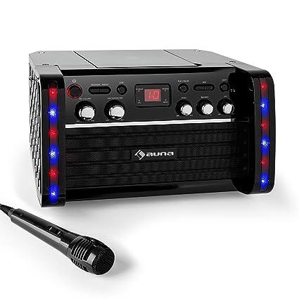 auna Disco Fever • Set de Karaoke • amplificador • 1 x micrófono dinámico •  2 01e22476c48
