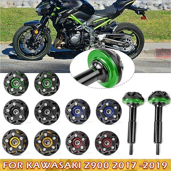 Lorababer Für Kawasaki Z900 Z 900 2017 2018 2019 Motorrad Rahmen Slider Crash Cover Pad Motorschutz Z 900 17 18 19 Zubehör Grün Auto
