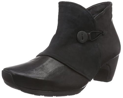 Think Ana Boot, Damen Kurzschaft Stiefel, Schwarz (SZ/Kombi 09), 36.5 EU